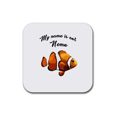 Clown Fish Rubber Square Coaster (4 Pack)  by Valentinaart