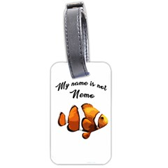 Clown Fish Luggage Tags (one Side)  by Valentinaart