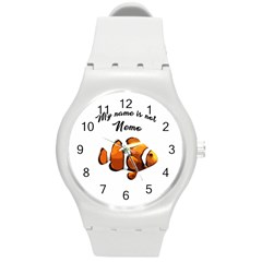 Clown Fish Round Plastic Sport Watch (m) by Valentinaart