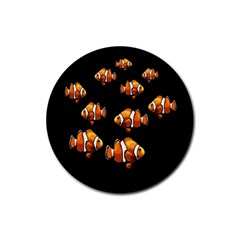 Clown Fish Rubber Coaster (round)  by Valentinaart