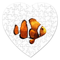 Clown Fish Jigsaw Puzzle (heart) by Valentinaart