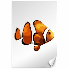 Clown Fish Canvas 24  X 36  by Valentinaart