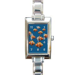 Clown Fish Rectangle Italian Charm Watch by Valentinaart