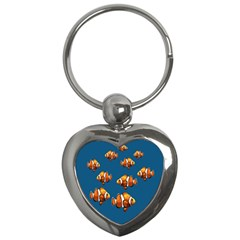 Clown Fish Key Chains (heart)  by Valentinaart