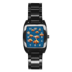 Clown Fish Stainless Steel Barrel Watch