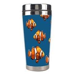 Clown Fish Stainless Steel Travel Tumblers by Valentinaart