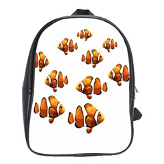 Clown Fish School Bags(large)  by Valentinaart