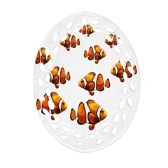 Clown Fish Ornament (oval Filigree) by Valentinaart