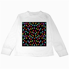 Candy Pattern Kids Long Sleeve T-shirts by Valentinaart