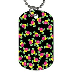 Candy Pattern Dog Tag (two Sides) by Valentinaart
