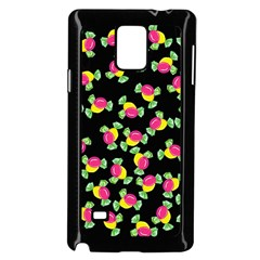 Candy Pattern Samsung Galaxy Note 4 Case (black) by Valentinaart