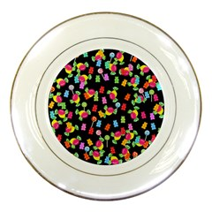 Candy Pattern Porcelain Plates by Valentinaart