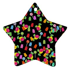Candy Pattern Star Ornament (two Sides)