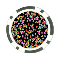 Candy Pattern Poker Chip Card Guard by Valentinaart