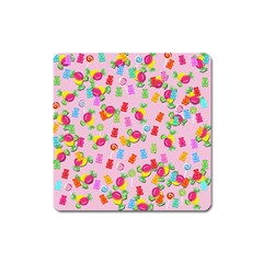 Candy Pattern Square Magnet by Valentinaart