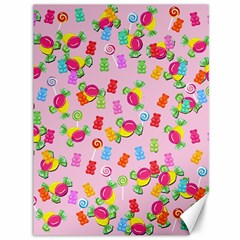 Candy Pattern Canvas 36  X 48   by Valentinaart