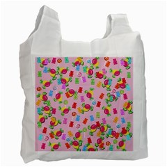Candy Pattern Recycle Bag (one Side) by Valentinaart