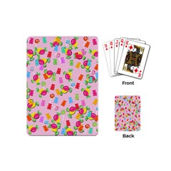 Candy Pattern Playing Cards (mini)  by Valentinaart