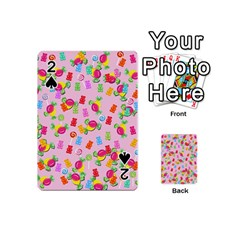 Candy Pattern Playing Cards 54 (mini)  by Valentinaart