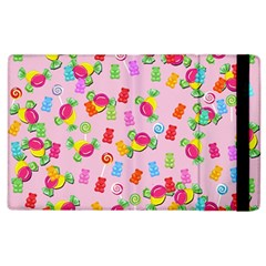 Candy Pattern Apple Ipad 3/4 Flip Case by Valentinaart