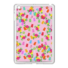 Candy Pattern Apple Ipad Mini Case (white) by Valentinaart