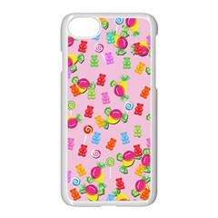 Candy Pattern Apple Iphone 7 Seamless Case (white)