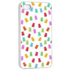 Candy Pattern Apple Iphone 4/4s Seamless Case (white) by Valentinaart