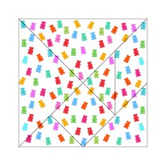 Candy Pattern Acrylic Tangram Puzzle (6  X 6 ) by Valentinaart