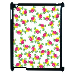 Candy Pattern Apple Ipad 2 Case (black) by Valentinaart