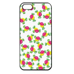 Candy Pattern Apple Iphone 5 Seamless Case (black) by Valentinaart