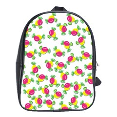 Candy Pattern School Bags (xl)  by Valentinaart