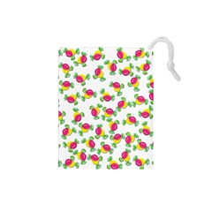 Candy Pattern Drawstring Pouches (small)  by Valentinaart