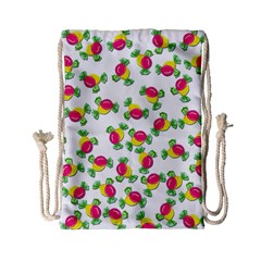 Candy Pattern Drawstring Bag (small) by Valentinaart