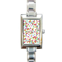 Candy Pattern Rectangle Italian Charm Watch