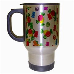 Candy Pattern Travel Mug (silver Gray) by Valentinaart