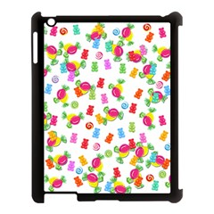 Candy Pattern Apple Ipad 3/4 Case (black) by Valentinaart