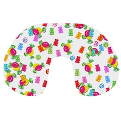 Candy Pattern Travel Neck Pillows by Valentinaart