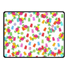 Candy Pattern Double Sided Fleece Blanket (small)  by Valentinaart