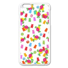 Candy Pattern Apple Iphone 6 Plus/6s Plus Enamel White Case by Valentinaart