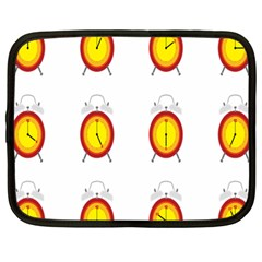 Alarm Clock Time Circle Orange Hour Netbook Case (large) by Mariart