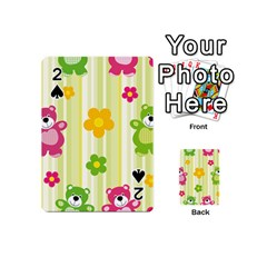 Animals Bear Flower Floral Line Red Green Pink Yellow Sunflower Star Playing Cards 54 (mini)  by Mariart