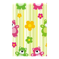Animals Bear Flower Floral Line Red Green Pink Yellow Sunflower Star Shower Curtain 48  X 72  (small)