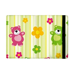 Animals Bear Flower Floral Line Red Green Pink Yellow Sunflower Star Ipad Mini 2 Flip Cases by Mariart