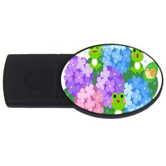 Animals Frog Face Mask Green Flower Floral Star Leaf Music Usb Flash Drive Oval (4 Gb) by Mariart
