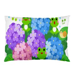 Animals Frog Face Mask Green Flower Floral Star Leaf Music Pillow Case by Mariart