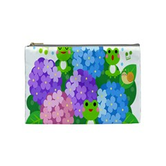 Animals Frog Face Mask Green Flower Floral Star Leaf Music Cosmetic Bag (medium)