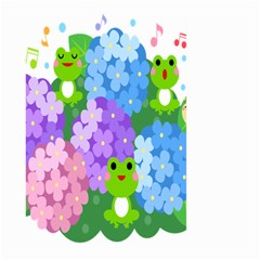 Animals Frog Face Mask Green Flower Floral Star Leaf Music Large Garden Flag (two Sides) by Mariart