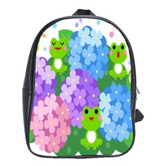 Animals Frog Face Mask Green Flower Floral Star Leaf Music School Bags (xl)  by Mariart