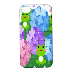 Animals Frog Face Mask Green Flower Floral Star Leaf Music Apple Iphone 4/4s Hardshell Case With Stand by Mariart