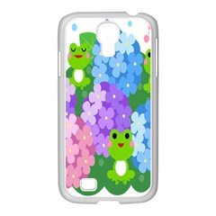 Animals Frog Face Mask Green Flower Floral Star Leaf Music Samsung Galaxy S4 I9500/ I9505 Case (white) by Mariart